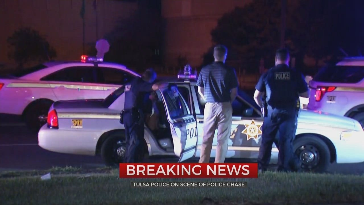 WATCH: Man Arrested After Tulsa Chase, Says He Didn't Have Anything Better To Do