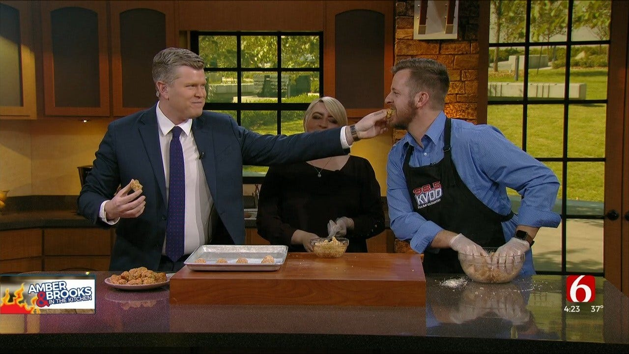 Amber & Brooks In The Kitchen: Super Bowl Sausage Balls