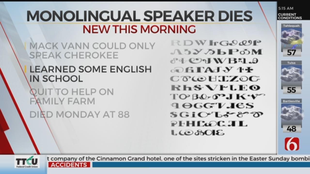 One Of Last Mono-Lingual Cherokee Speakers Passed Away