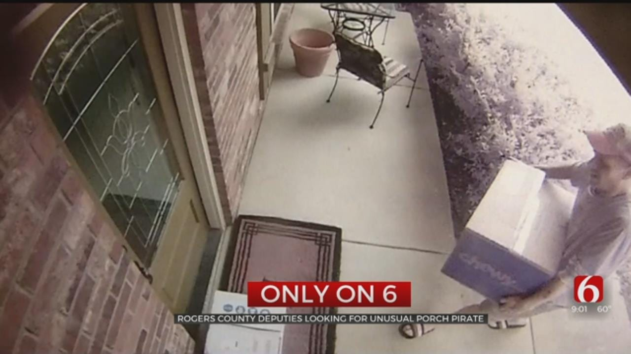 Rogers County Deputies Looking For Unusual Porch Pirate