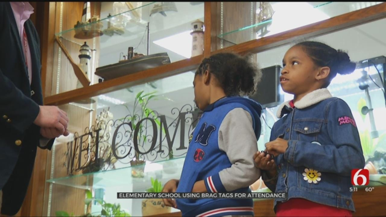 Jones Elementary In Tulsa Giving Out 'Brag Tags' For Good Attendance