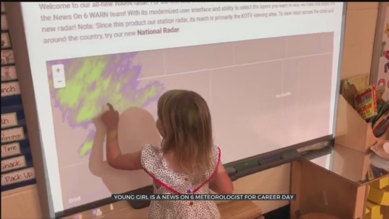 Young Meteorologist Predicts The Weather