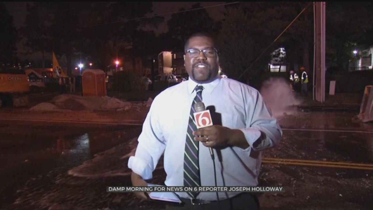 WATCH: Joseph Holloway Gets Splashed During Live Shot