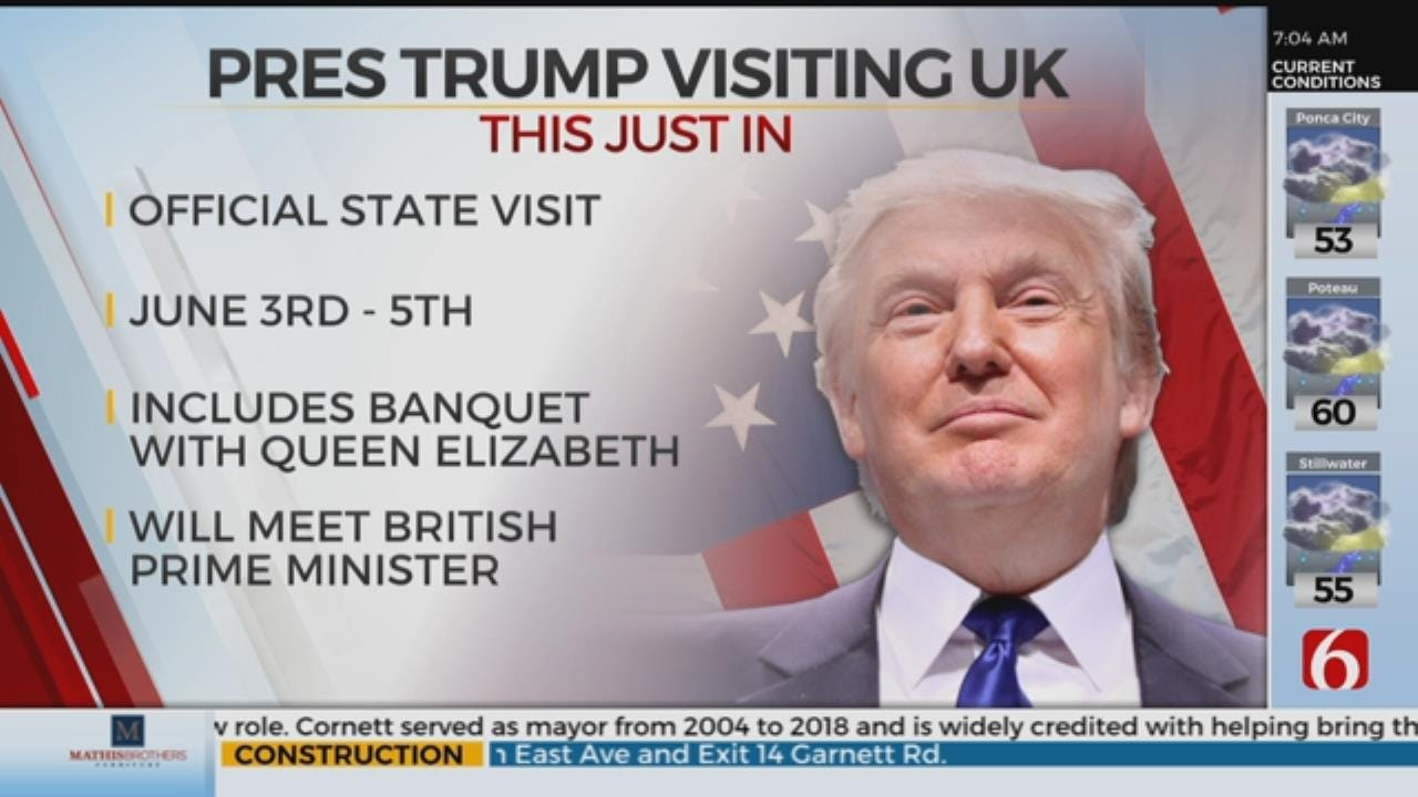 President Trump To Pay State Visit To Britain In June