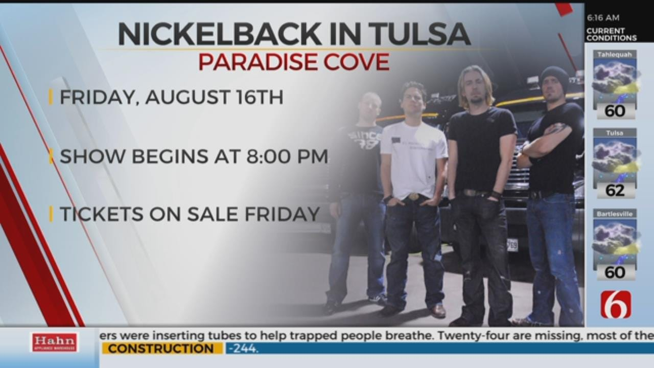 Nickelback Announces Tulsa Concert