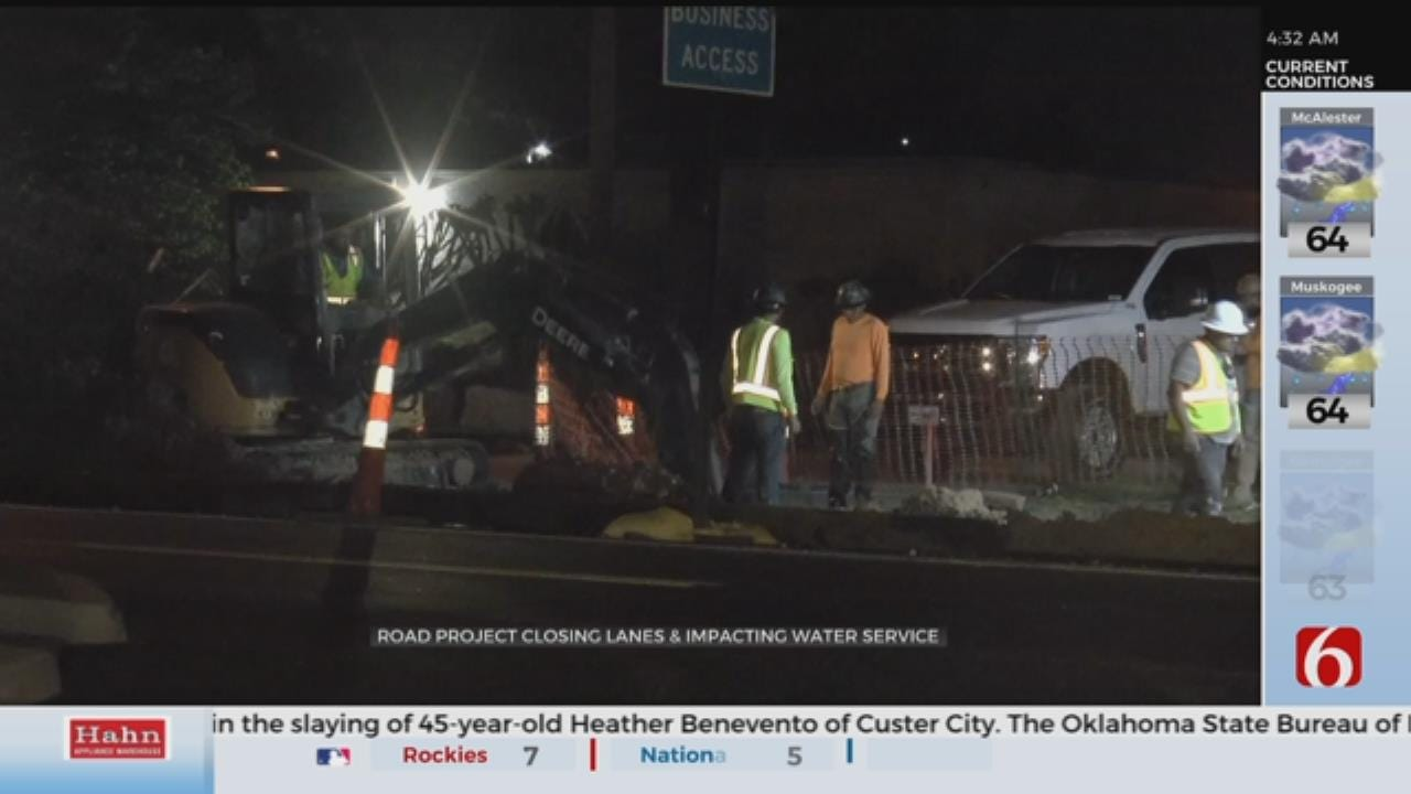 Water Shut Off For Tulsa Street Project