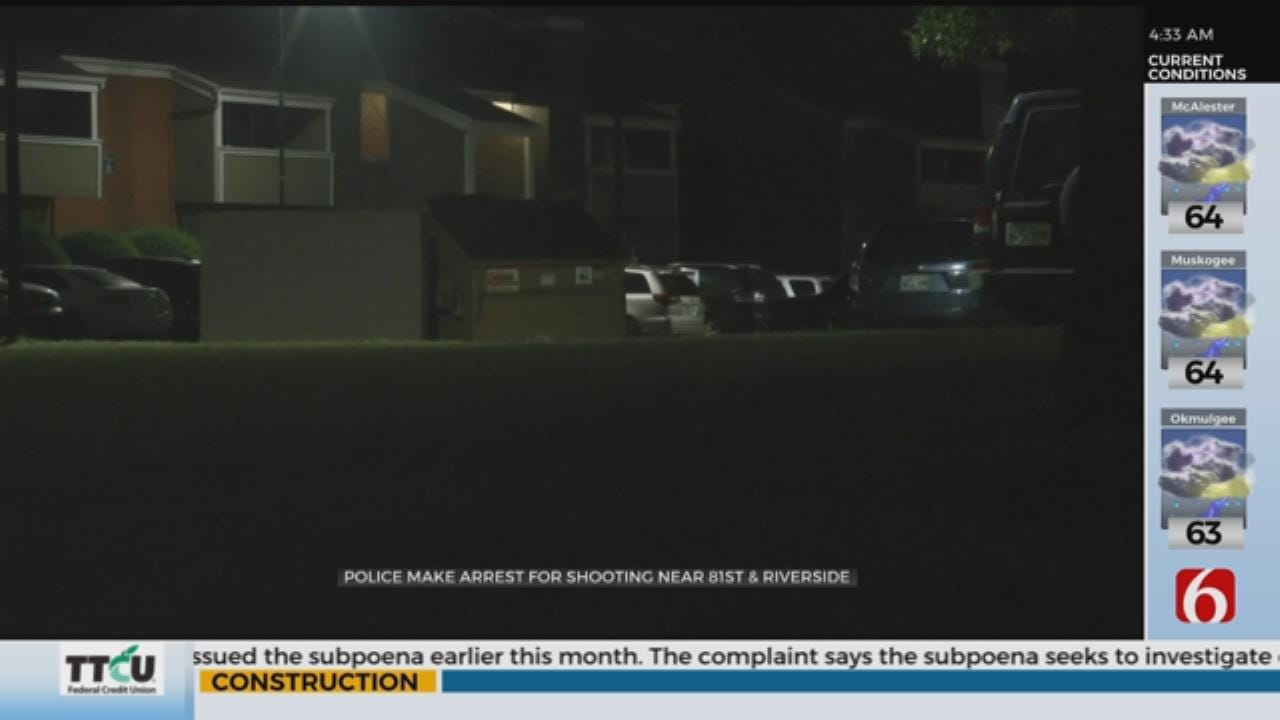 1 Arrested After Shooting At Tulsa Apartment Complex
