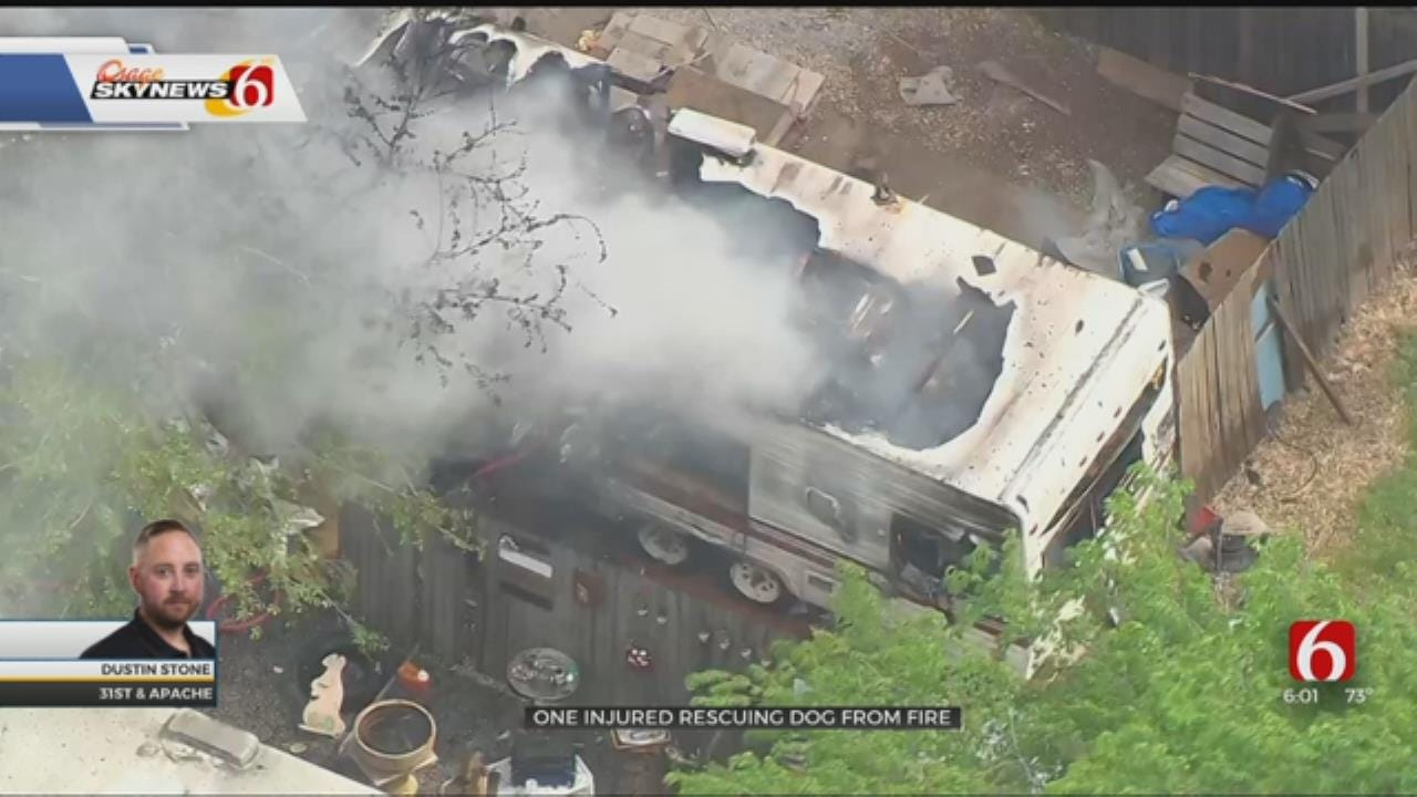One Injured In Tulsa Mobile Home Fire