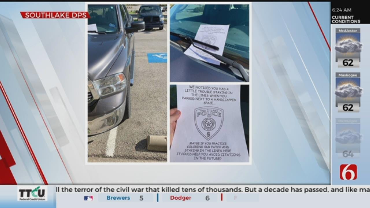 Police Issue Unique Parking 'Tickets'