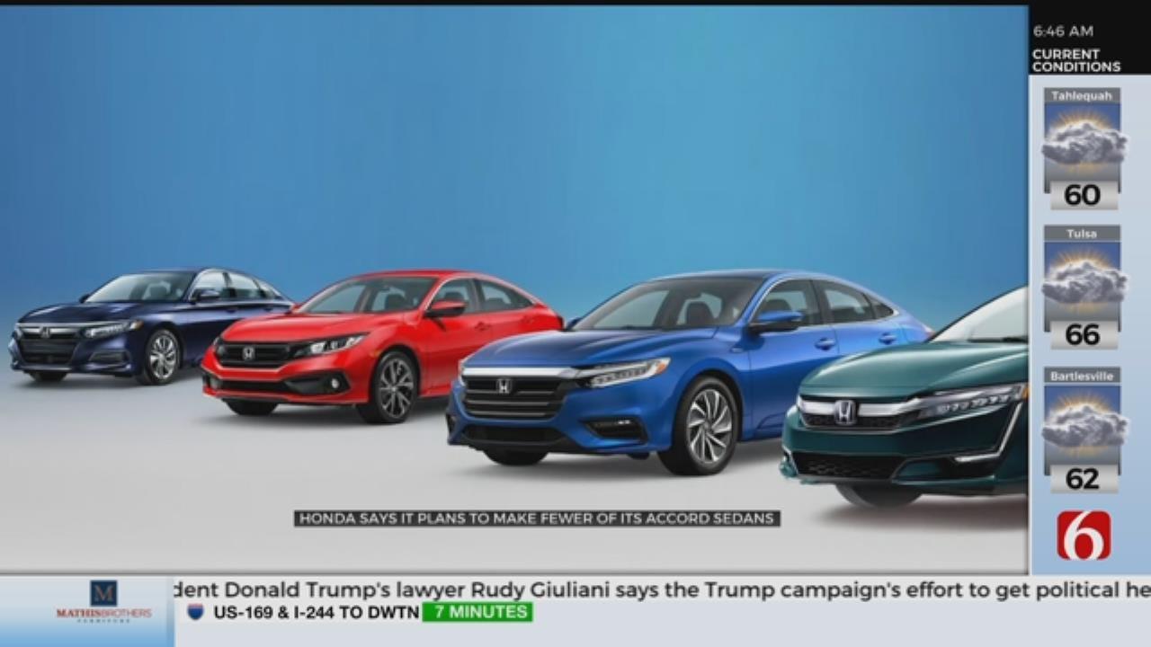 Honda To Make Fewer Cars