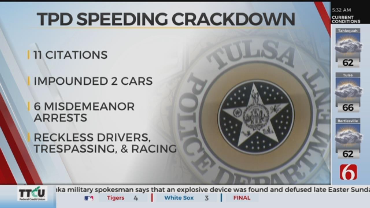 Police Crack Down On Speeding Tulsa Drivers