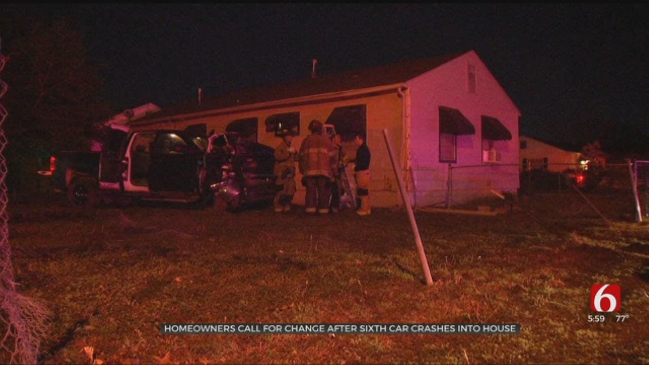 Tulsa Homeowner 'Keeping Score' After 6th Vehicle Crashes Into Her Home