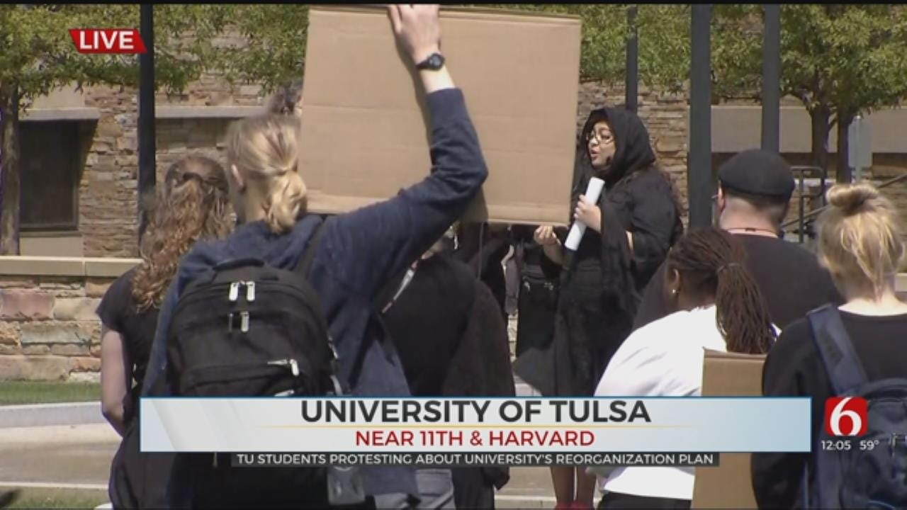 TU Students Hold 'Mock Funeral' For Cut Programs