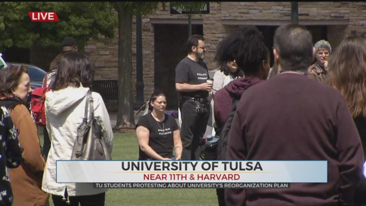 Students Protest Program Cuts University Of Tulsa