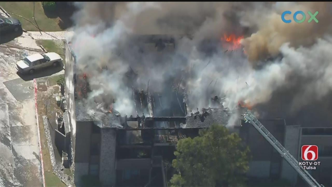 WATCH: Apartment Fire Near 51st Street and Memorial.