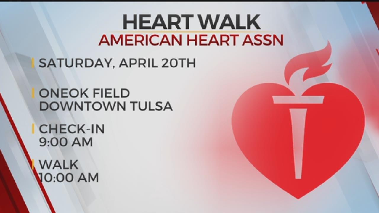 American Heart Association Hold Heart Walk