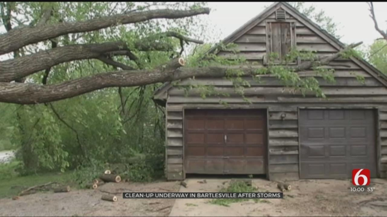 Bartlesville Family Cleaning Up After Storm Sweeps Through