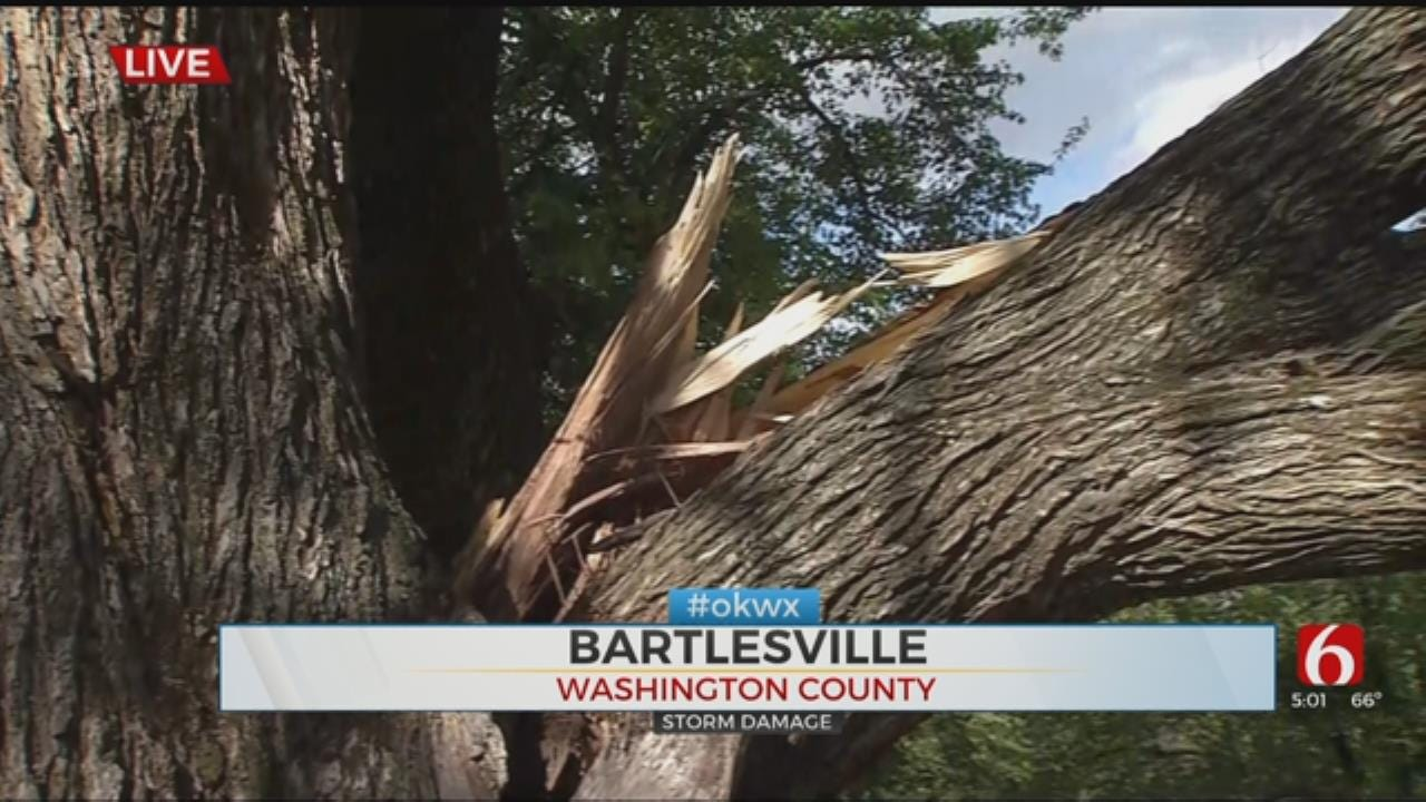 WATCH: Bartlesville Residents Cleaning Up After Storm Sweeps Through