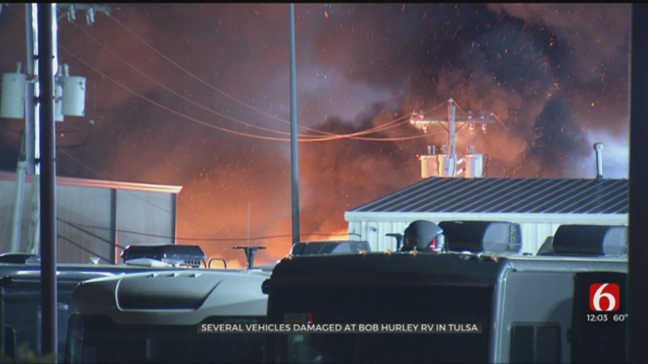 Fire Damages Multiple RVs At Tulsa Dealership