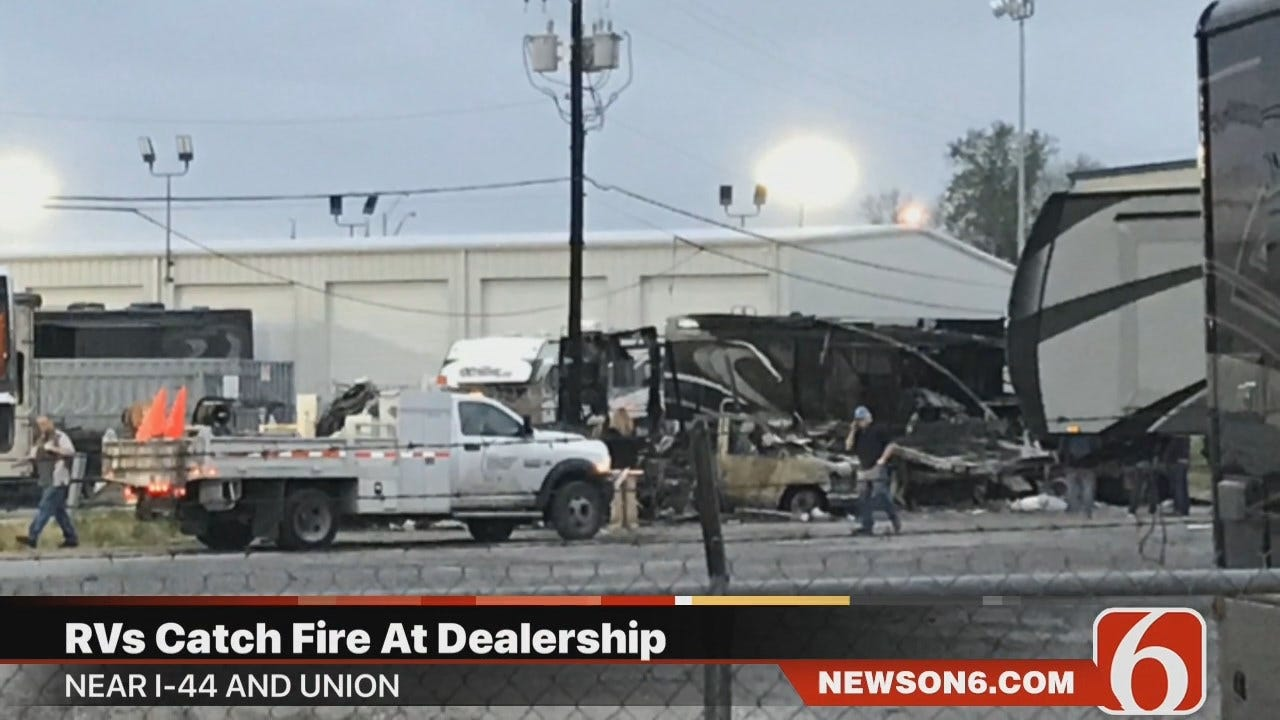 WATCH: RV Fire Update