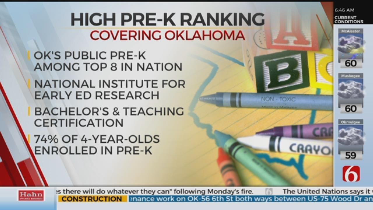 Oklahoma's Pre-K Program Among Top In The Nation
