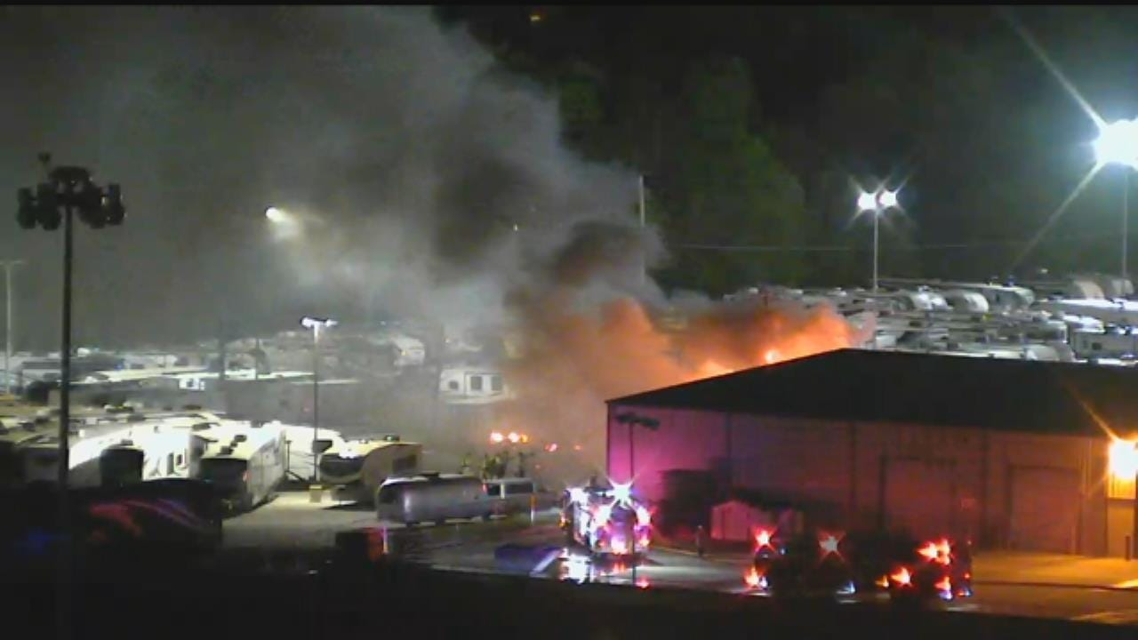 WATCH: Fire At Bob Hurley RV