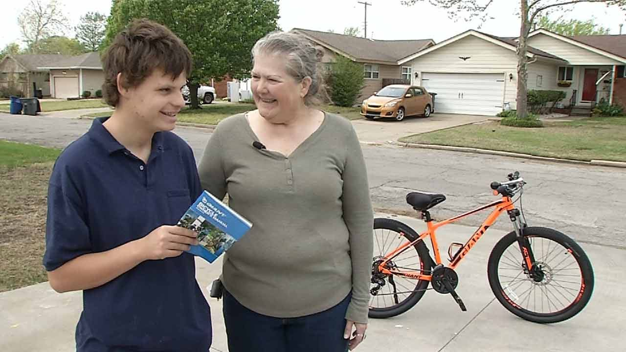 Autistic Tulsa Teen Surprised With New Bike After His Was Stolen