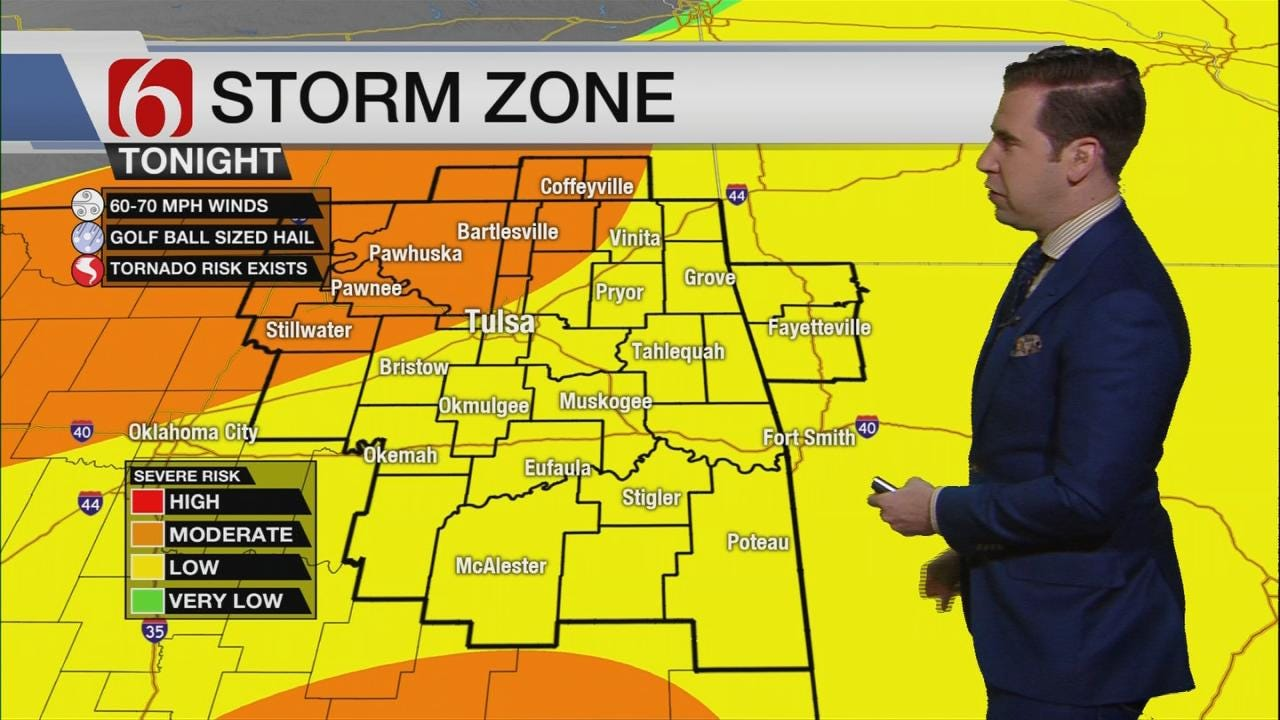 WATCH: Storms Expected In Green Country Tonight