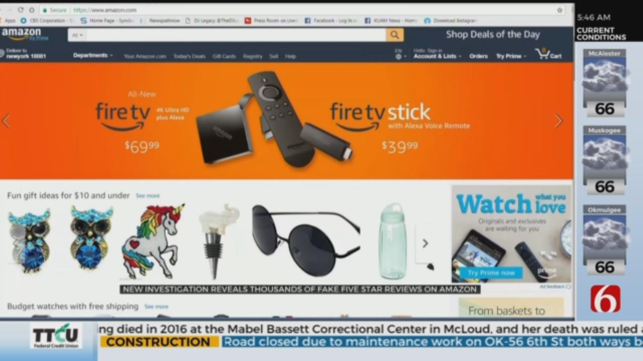 Investigation Finds Fake 5-Star Reviews On Amazon