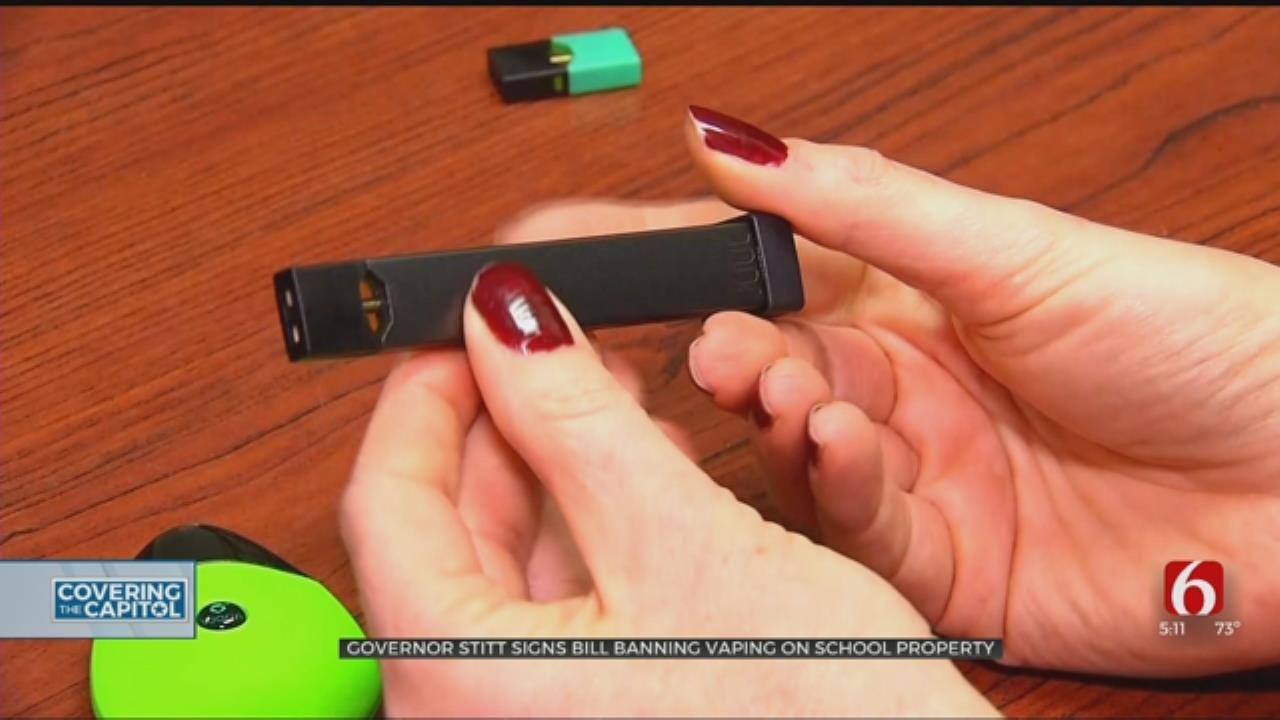 Stitt Signs Bill Banning Vaping In Oklahoma Schools
