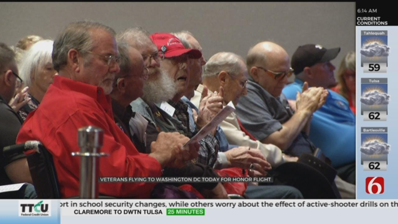 Honor Flight Takes Oklahoma Veterans To Visit National Monuments
