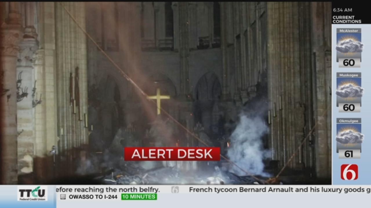 WATCH: Part Of Notre Dame Still Stands After Fire