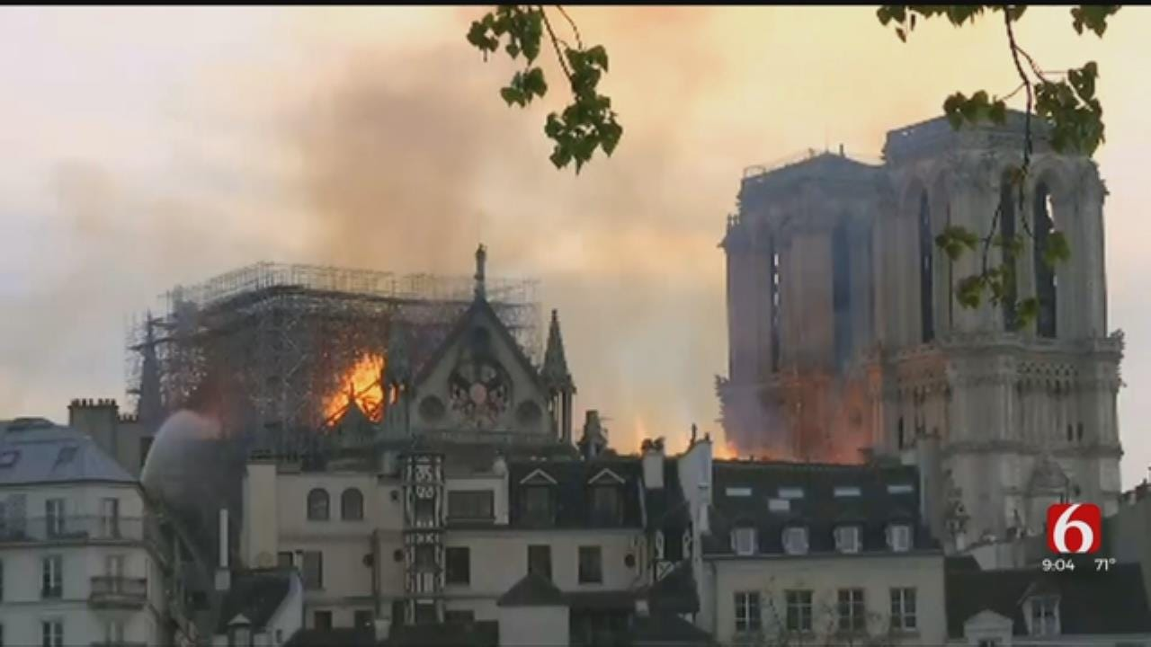 Catholic And French Supporters In Tulsa React To Notre Dame Cathedral Fire