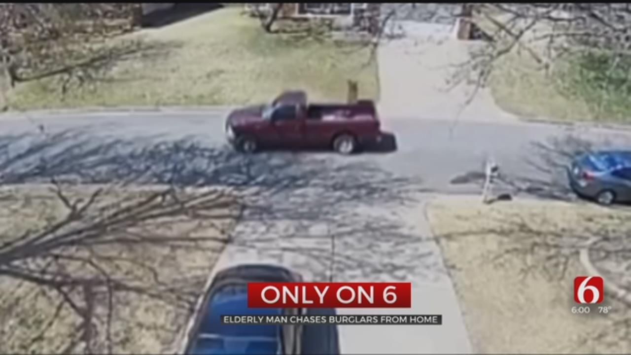 Elderly Tulsa Man Chases Burglars From Home