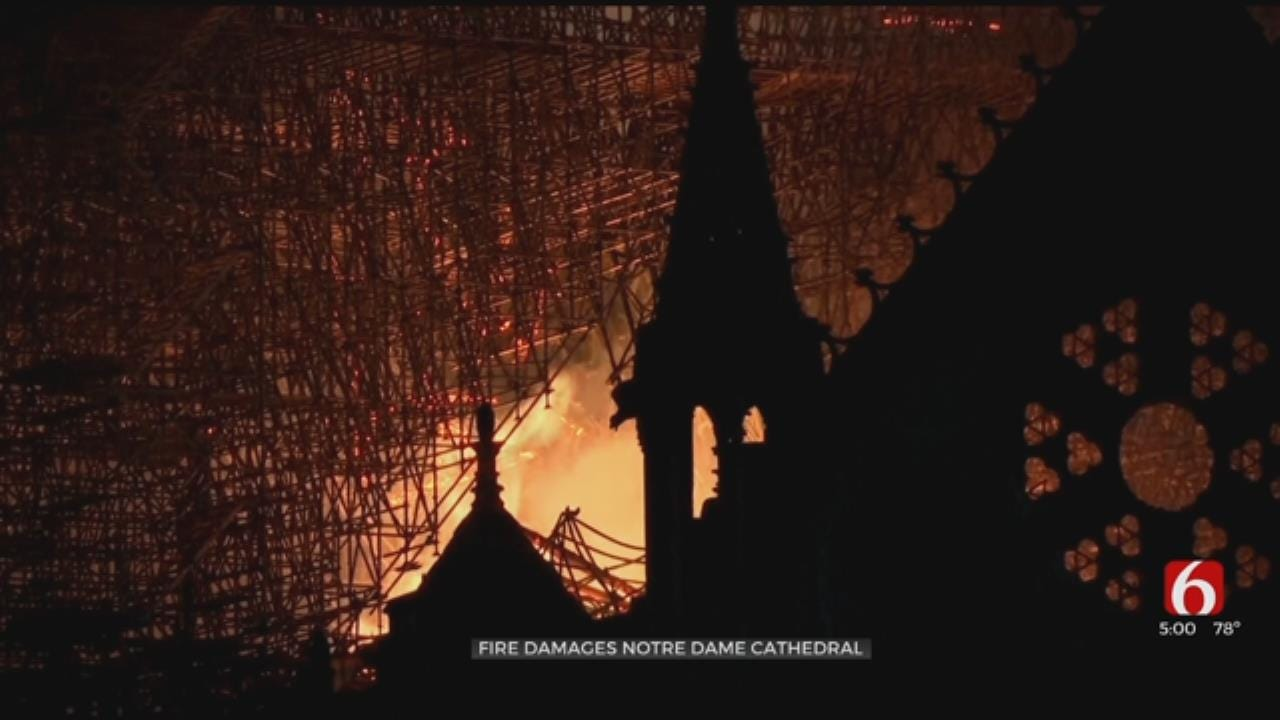 Fire Contained At Notre Dame Cathedral In Paris