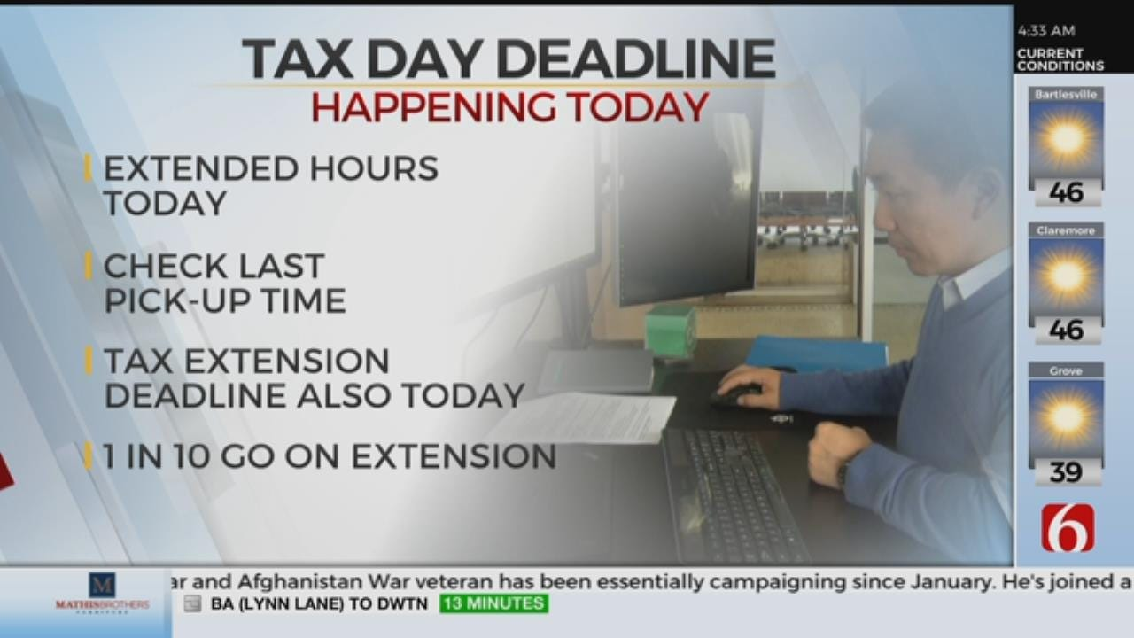 Post Office Open Late For Tax Day Deadline