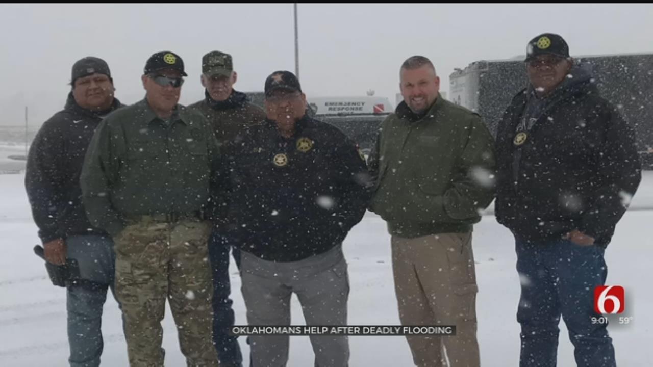 Lighthorse Police Return After Helping South Dakota Flood, Snow Victims
