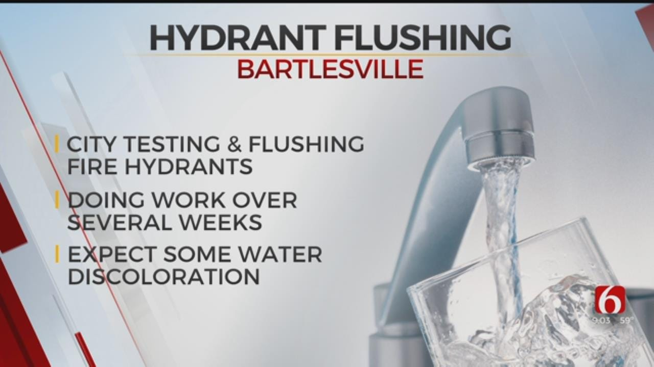 Bartlesville Begins Hydrant Flushing And Testing