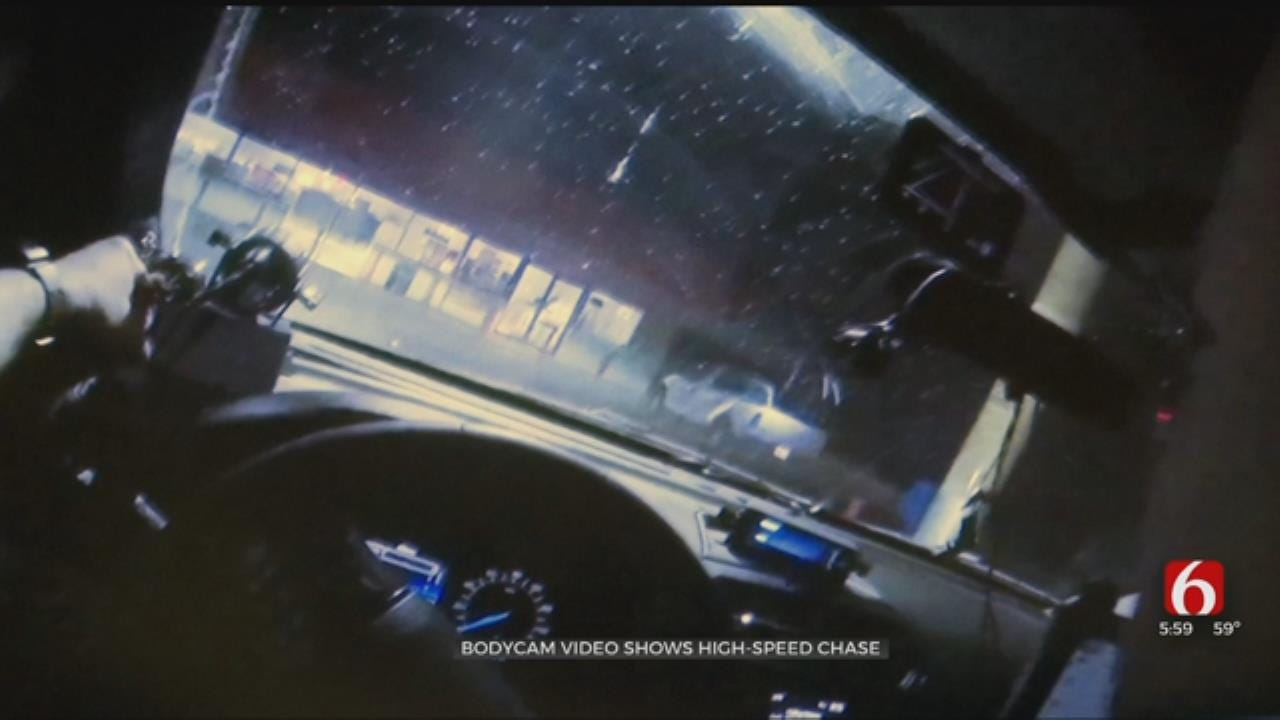 Video Shows Sand Springs Police Chase Attempted ATM Thieves