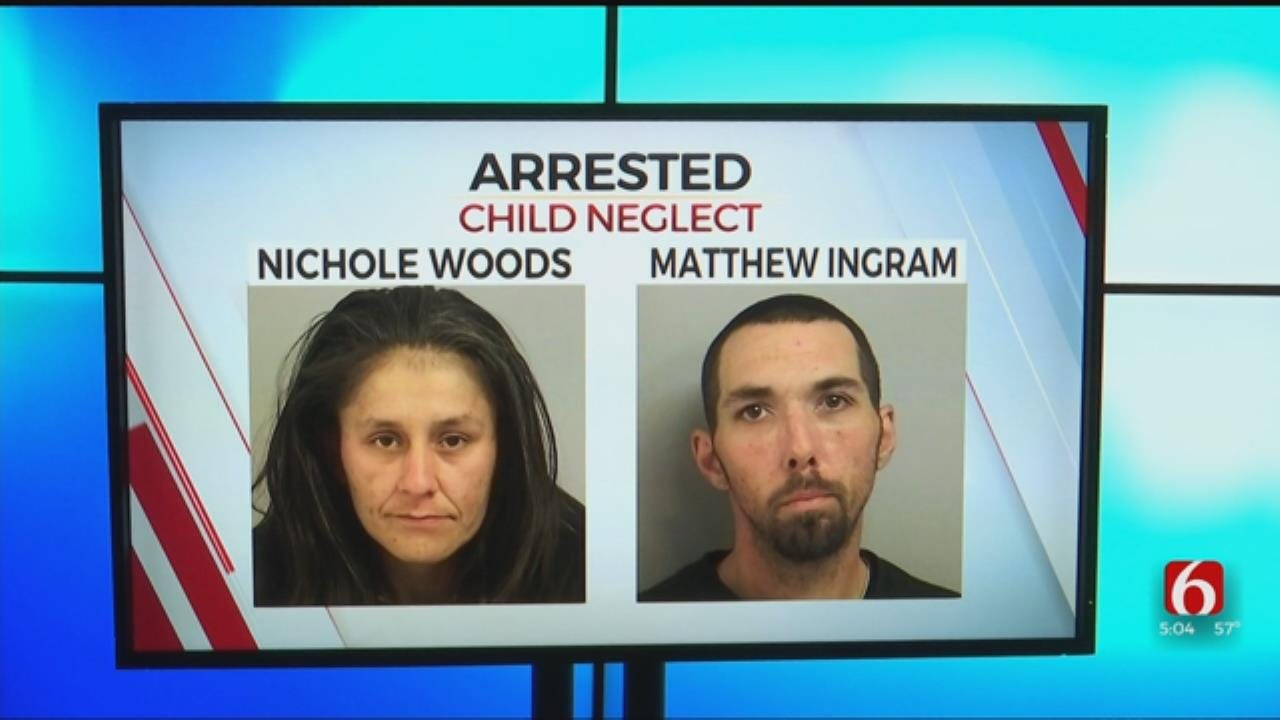 Tulsa Mother & Her Boyfriend Charged With Child Neglect