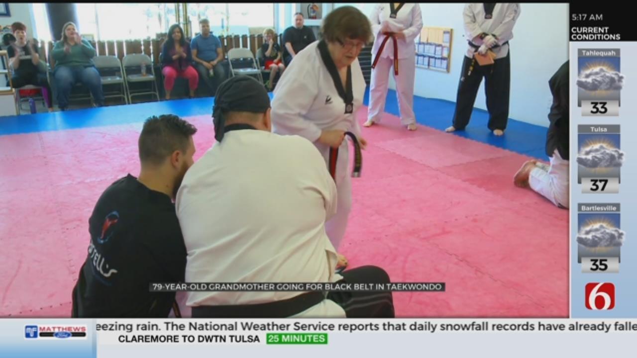 WATCH: Grandmother Works Toward Earning Black Belt