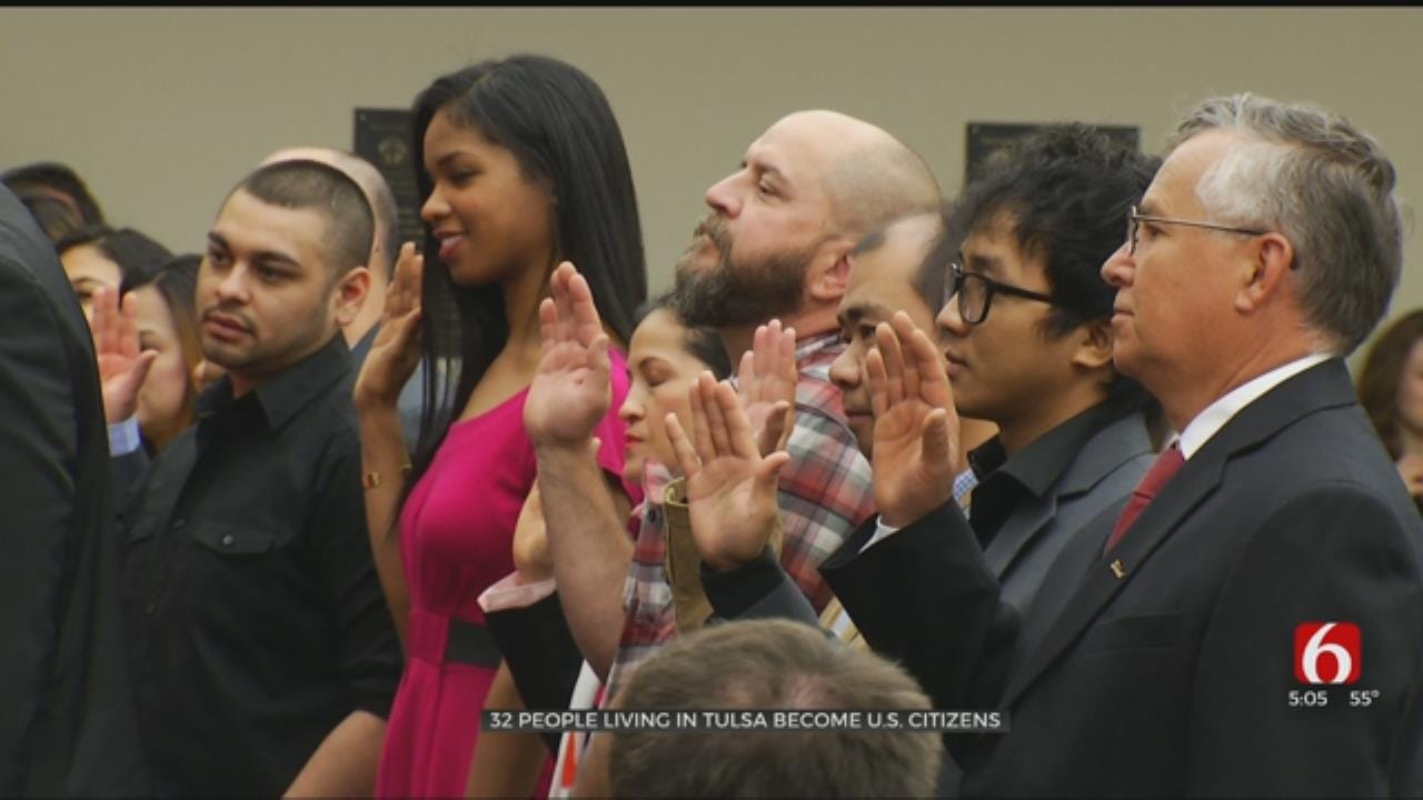 32 New U.S. Citizens Sworn In At Tulsa City Hall