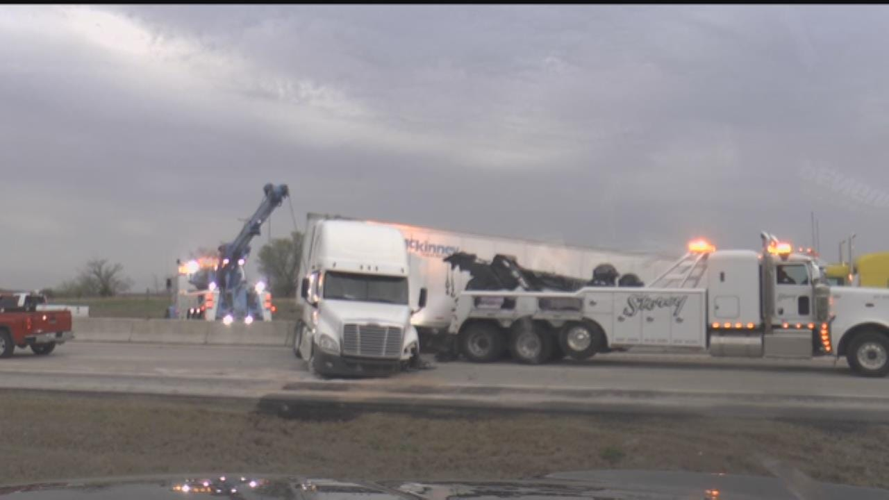 WATCH: Semi Crash On Will Rogers Turnpike