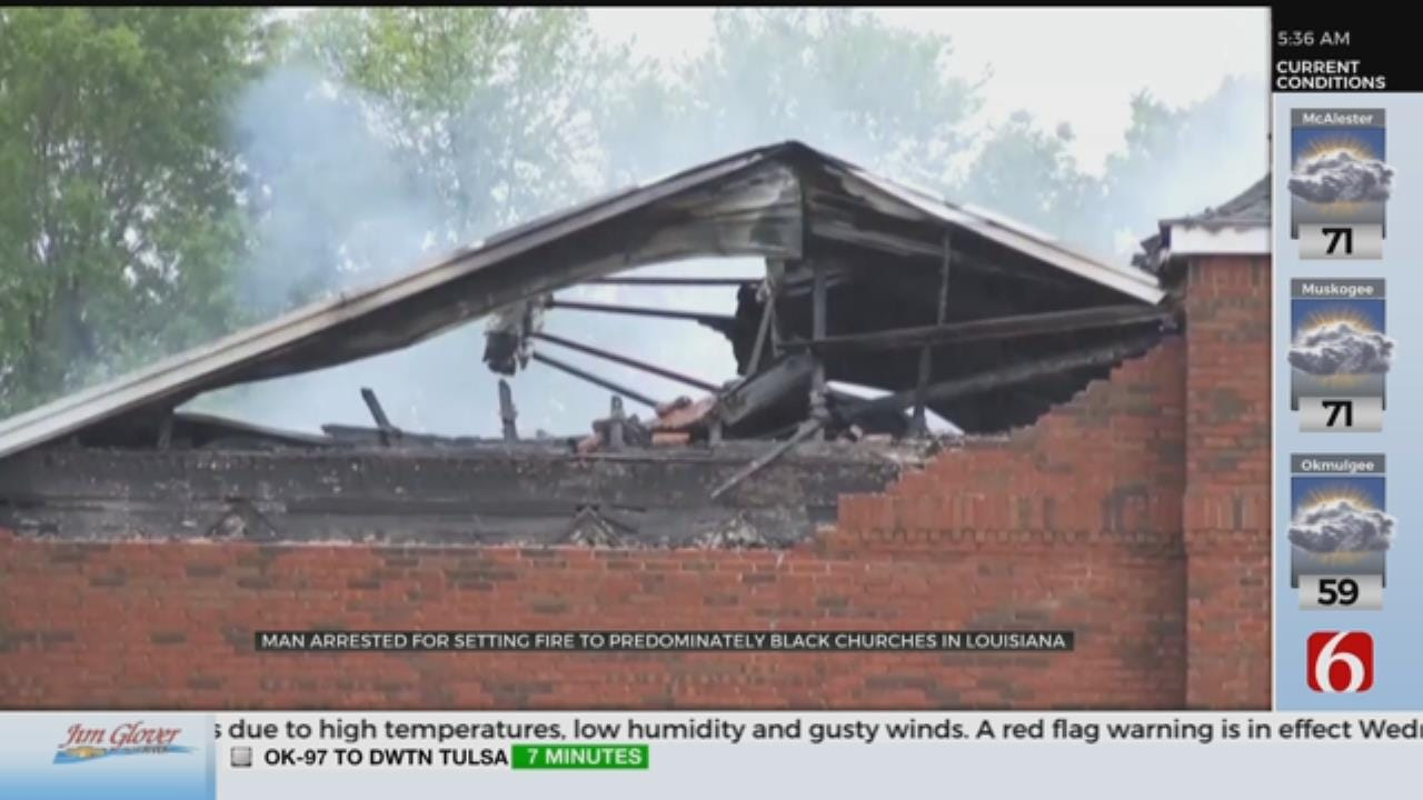 Arrest Made In Fires At 3 Churches In Louisiana