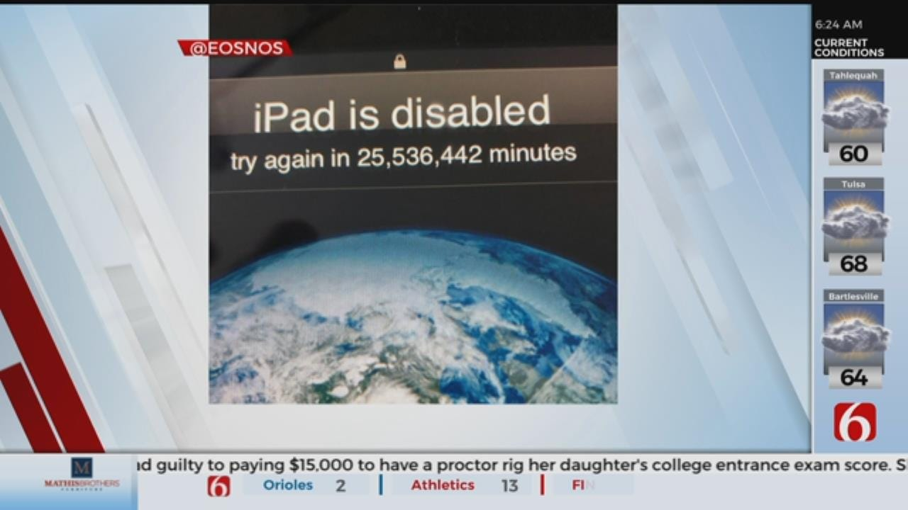 LOCKED OUT: Toddler Disables iPad For 25 Million Minutes
