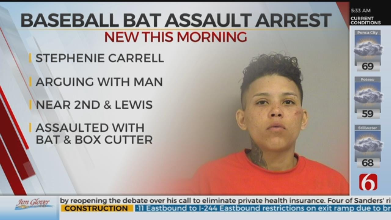 Woman Arrested After Assault With Bat And Chase, Police Say