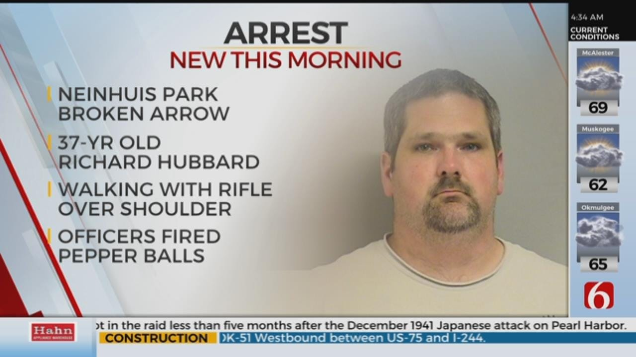 Man Arrested After Walking Around Broken Arrow Park With Rifle