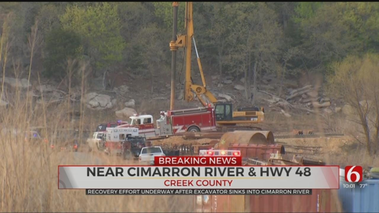 Recovery Effort Underway After Cimarron River Construction Accident