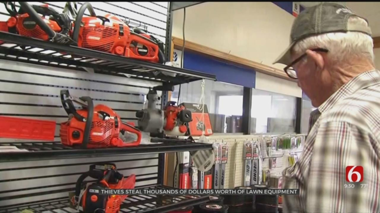 Thieves Steal Nearly $4,000 In Lawn Equipment From Bartlesville Business