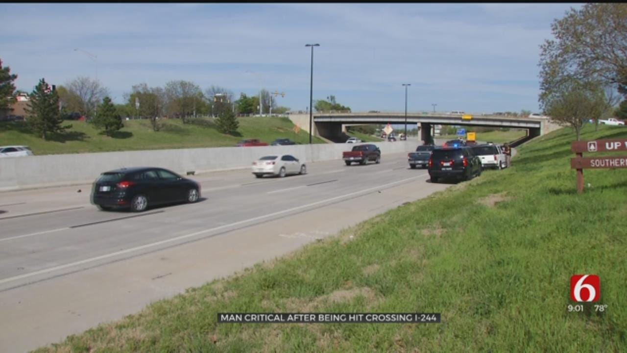 UPDATE: Pedestrian Hit By At Least One Car On Interstate 244 In Tulsa